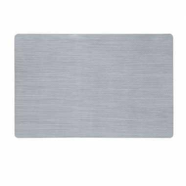 Afneembare placemat zilver 43 x 28 cm