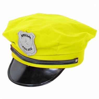 Agenten pet neon geel