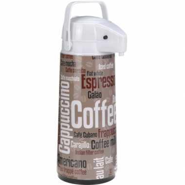Airpot koffiekan bruin/wit 2 liter
