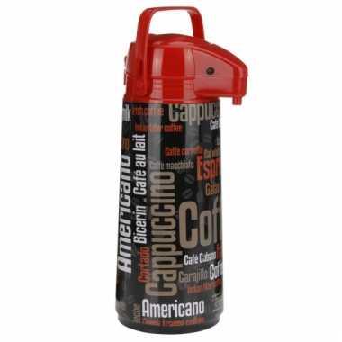 Airpot koffiekan zwart/rood 2 liter