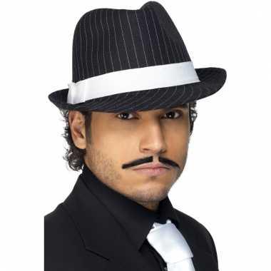 Al capone hoeden zwart/wit