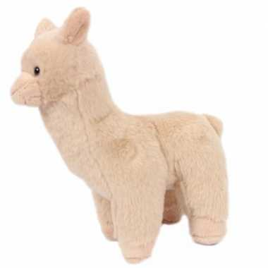 Alpaca knuffeltje dier beige 17 cm