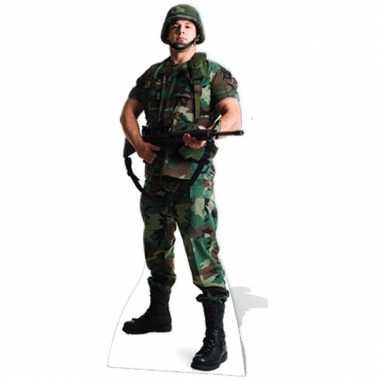 Amerikaans decoratiebord soldaat
