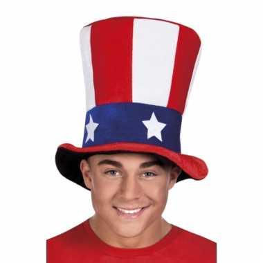 Amerikaanse vlag hoed voor volwassenen
