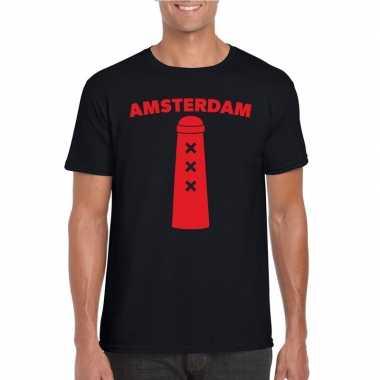 Amsterdammertje shirt zwart heren
