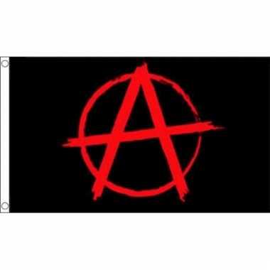 Anarchie logo vlag zwart