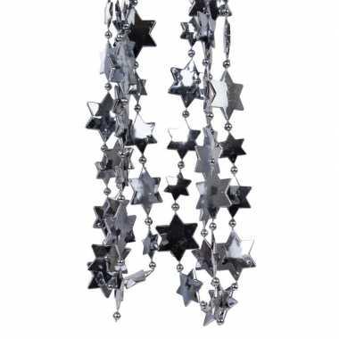 Antraciet kerstversiering ster kralenslinger 270 cm