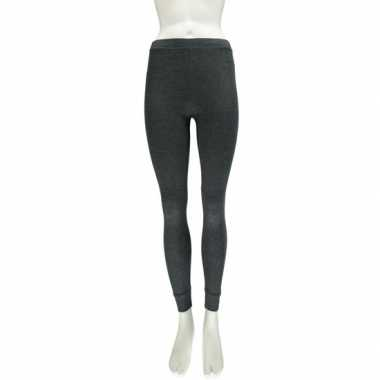 Antraciet thermo legging voor dames