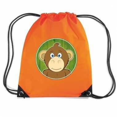 Apen rugtas / gymtas oranje voor kinderen