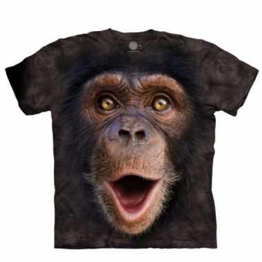 Apen t-shirt chimpansee jong voor volwassenen
