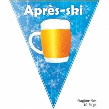 Apres ski vlaggenlijn bierpul 5 m