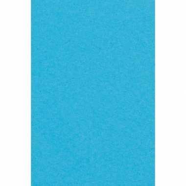 Aqua blauw papieren tafelkleed 137 x 274 cm