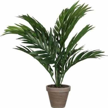 Areca palm kunstplant groen 40 cm in pot