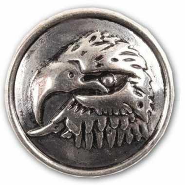 Arend drukknoop zilver 1,8 cm