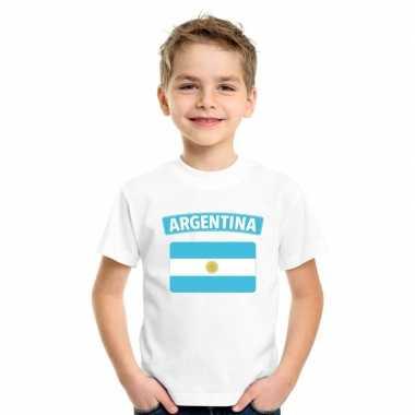 Argentijnse vlag kinder shirt wit