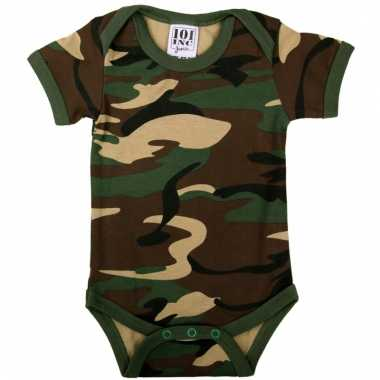 Army baby rompertje