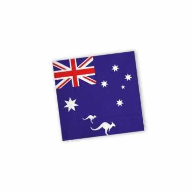 Australie thema servetjes 20 st