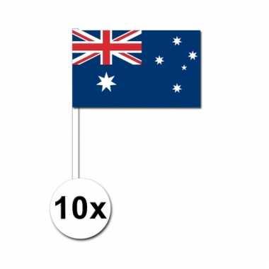 Australie zwaai vlaggetjes 10 stuks