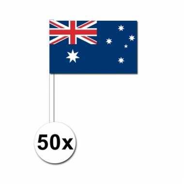 Australie zwaai vlaggetjes 50 stuks