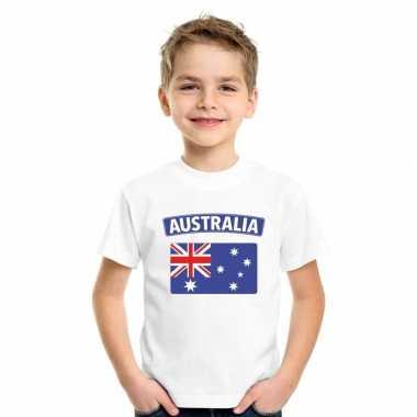 Australische vlag kinder shirt wit