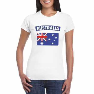 Australische vlag shirt wit dames