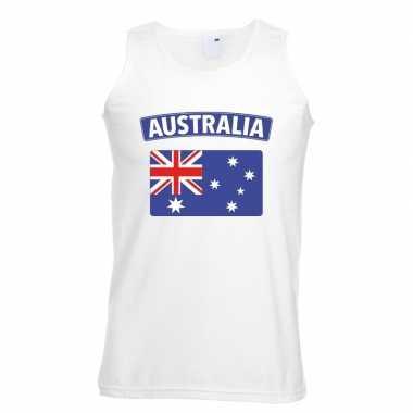Australische vlag singlet wit heren