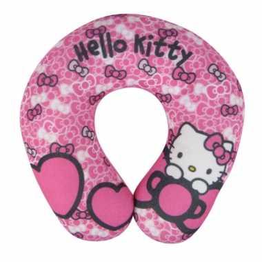 Autokussen van hello kitty roze