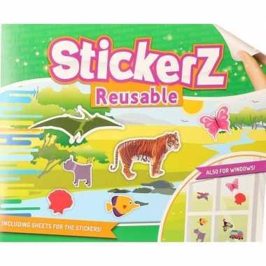 Autoraam stickers in wilde dieren thema