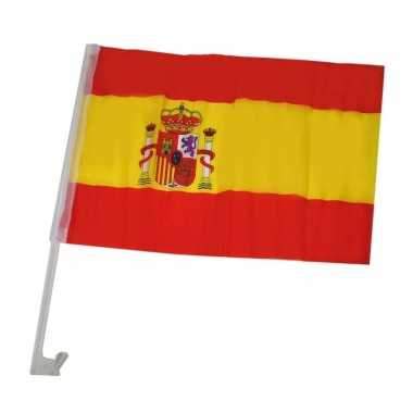Autoraam vlaggen van spanje