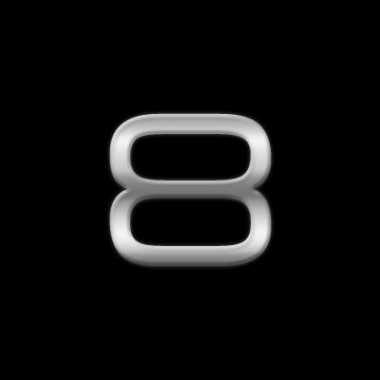 Autostickers cijfer 8 chrome kleur