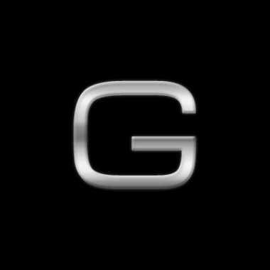 Autostickers letter g chrome kleur