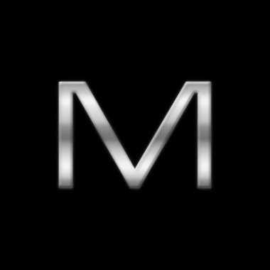 Autostickers letter m chrome kleur