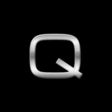 Autostickers letter q chrome kleur
