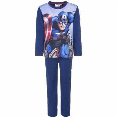Avengers kinder pyjama blauw voor jongens