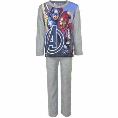 Avengers kinder pyjama grijs voor jongens