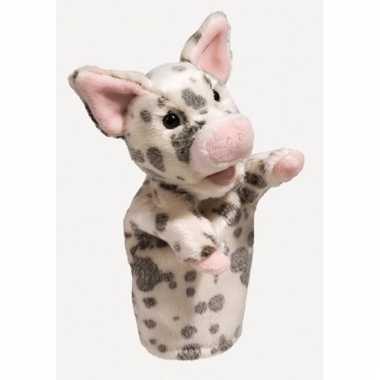 Biggetje varkens handpop 28 cm