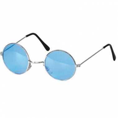 Blauwe hippie bril