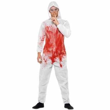 Bloederige overall voor heren