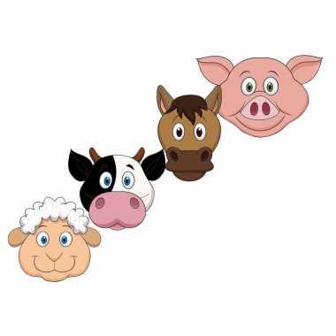 Boerderijdieren maskertjes voor kinderen
