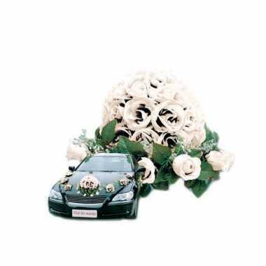 Bruiloft rozen boeket voor auto