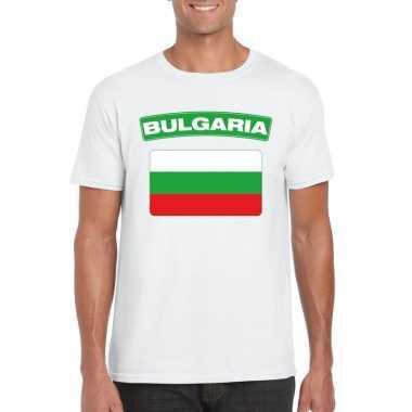 Bulgaarse vlag shirt wit heren