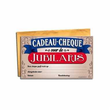 Cadeau cheque voor een jubileum
