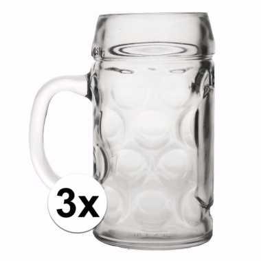 Cafe bierpullen 0 4 liter 3 x