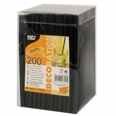 Caipirinha rietjes zwart 200 stuks