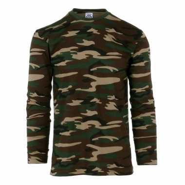 Camouflage shirt voor heren lange mouw