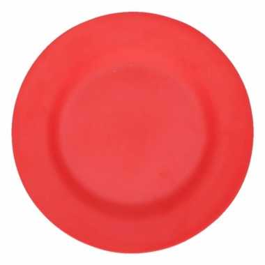 Camping ontbijt bord rood 17,5 cm