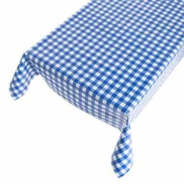 Camping tafelzeil blauwe ruit 140 x 170 cm