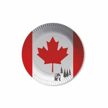 Canadese thema bordjes van karton 8 st