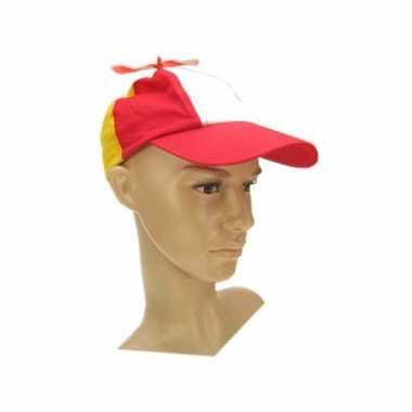 Carnaval propellorpet rood/wit/geel