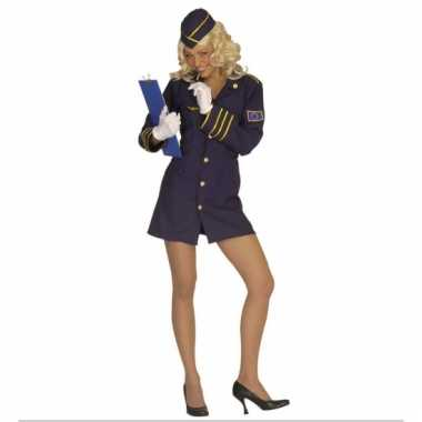 Carnaval stewardess pakje dames